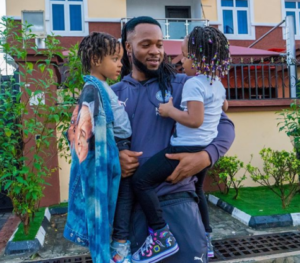 Flavour Spends Time With His Pretty Daughters On His Birthday Today (Photos)